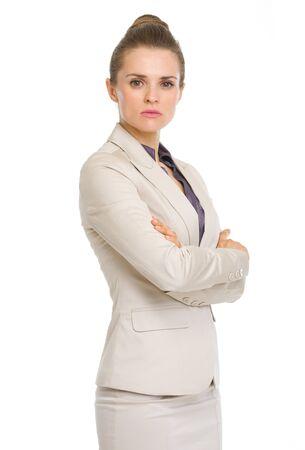 authoritative woman: Portrait of confident business woman Stock Photo