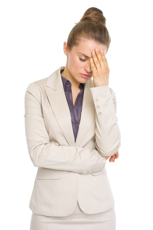 Portrait of stressed business woman Stock Photo - 19727811