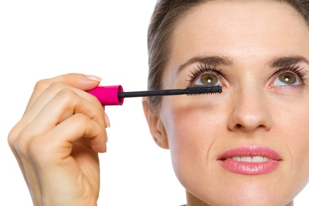 Closeup on woman applying mascara Stock Photo - 19848819