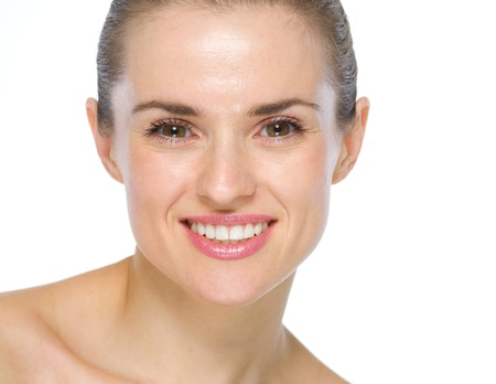 Beauty portrait of smiling young woman Stock Photo - 19848783