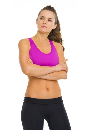 authoritative woman: Portrait of confident fitness young woman