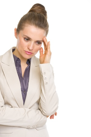 disquieted: Portrait of concerned business woman Stock Photo