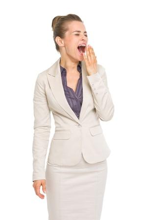 yawing: Retrato de mujer de negocios de gui�ada