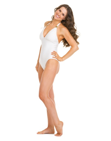 Full length portrait of happy young woman in swimsuit Stock Photo - 20542784