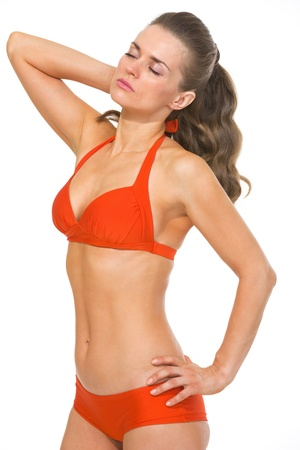 Portrait of relaxed young woman in swimsuit Stock Photo - 20542747