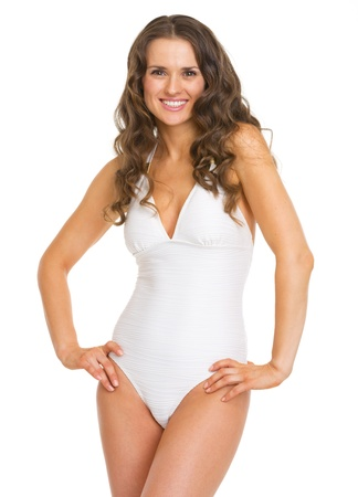 Portrait of happy young woman in swimsuit Stock Photo - 20542756
