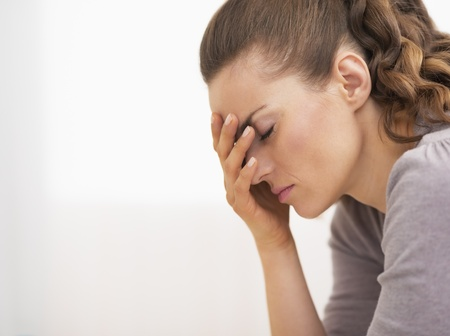 Portrait of stressed young woman Stock Photo - 21359704