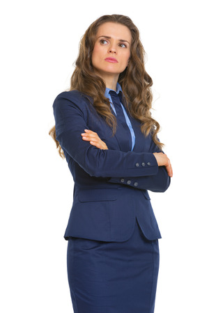 certitude: Portrait of confident business woman Stock Photo