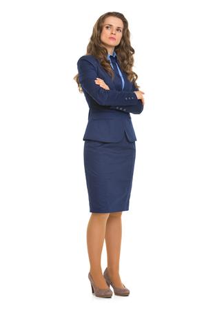 authoritative woman: Full length portrait of confident business woman Stock Photo