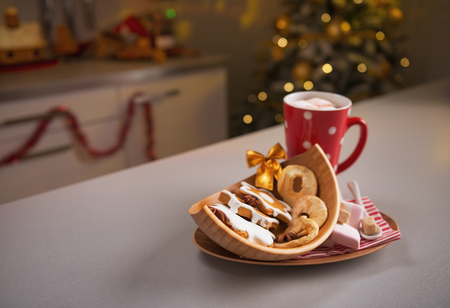 Closeup on christmas snack on kitchen table Stock Photo - 23533214