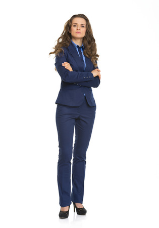certitude: Full length portrait of confident business woman Stock Photo