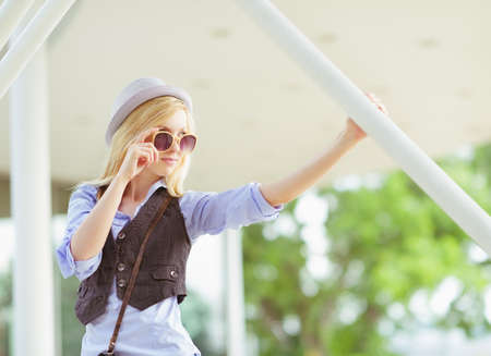 Young hipster hanging in the city Stock Photo - 26977541