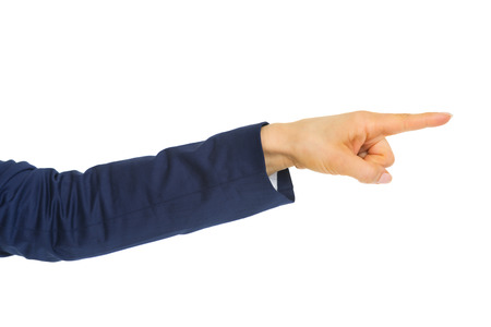 Closeup on business woman pointing with finger Stock Photo - 28062590