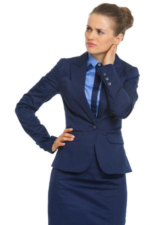 dudando: Retrato de dudar de la mujer de negocios
