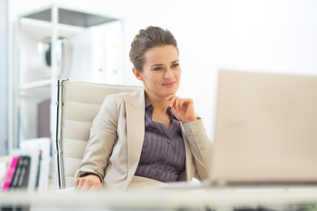 topicality: Business woman using laptop