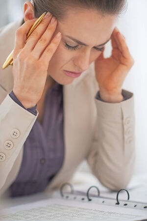 Portrait of frustrated business woman Stock Photo - 29947771