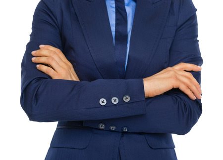 Closeup on business woman with crossed arms on chest Stock Photo - 30683849