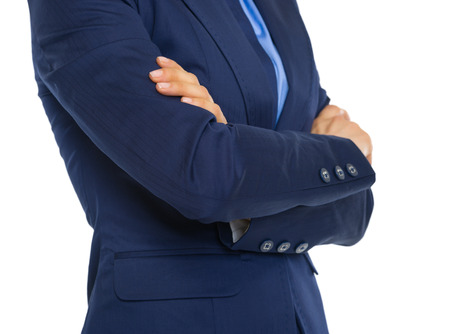 Closeup on business woman with crossed arms on chest Stock Photo - 30683853