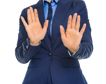 Business woman denying Stock Photo - 30602146