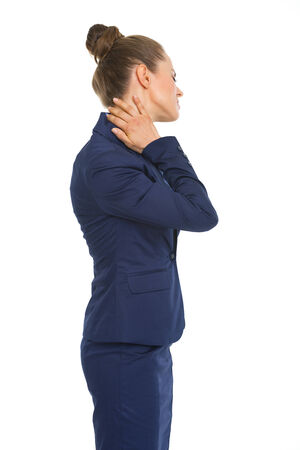 Business woman with neck pain Stock Photo - 30666713