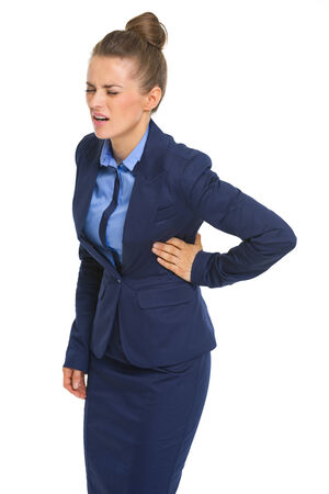 Business woman with chest pain Stock Photo - 30666717