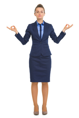 Full length portrait of calm business woman Stock Photo - 30674934