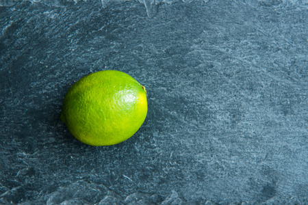 substrate: Closeup on lime on stone substrate