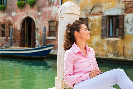 close your eyes: When in Venice, close your eyes, and youll see that the sounds are not too far different from what they must have been hundreds of years ago. The Stock Photo