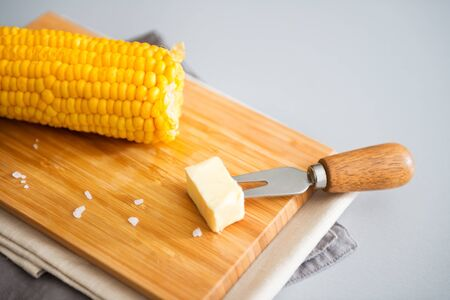 pat: A hot corn on the cob, and a pat of cold butter waiting to be put on... Melted perfection.