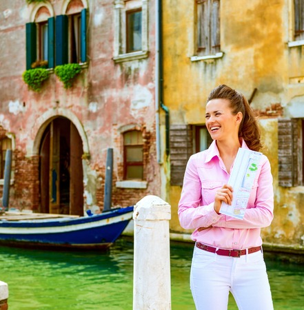 When in Venice, maybe its not so bad to get lost, after all... Stock Photo