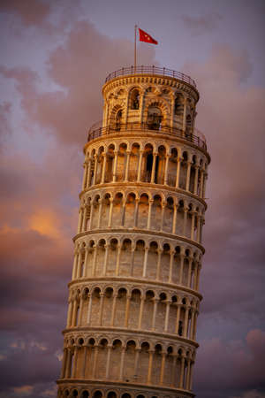 with Leaning Tower and Cattedrale di Pisa in Pisa, Italy.