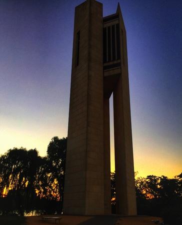 Canberra: Sunset National Carillon Canberra Australia Stock Photo