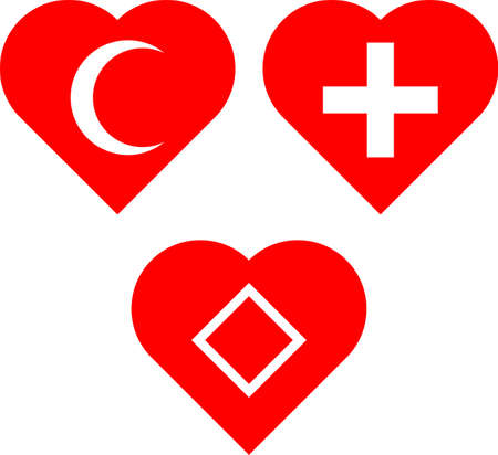 Universal Health Symbols With Heart