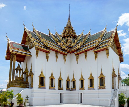 Grand Palace in Bangkok, Thailand. View of the Phra Thinang Dusit Maha Prasat (The Throne Hall). Stock Photo