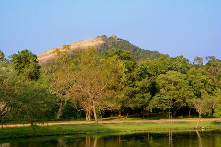 View of the Pidurangala Rock - mount near Sigiriya Rock in Sri Lanka