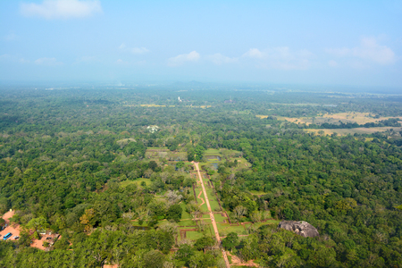 View to the valley from the top of the Sigiriya Lion Rock Fortress, Sri Lanka