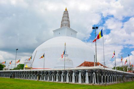 Beautiful view of the Ruwanwelisaya - one of the tallest Buddhist stupa in the world located in theancient city of Anuradhapura, Sri Lanka