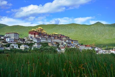 Ganden Songzanlin Buddhist Monastery. Shangri-La County, Yunnan province, China. Stock fotó