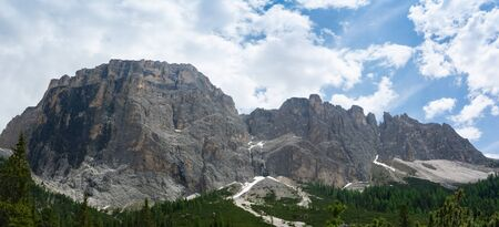 Beautiful panoramic view on the Gruppo del Sella. Dolomites, South Tyrol