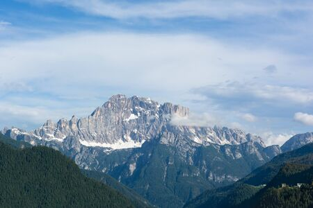 Mount Civetta, Dolomites, Italy. View from Salesei village.