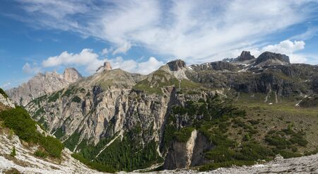 Beautiful panoramic view of Parco Naturale Tre Cime (Drei Zinnen). Dolomites, Italy. 写真素材