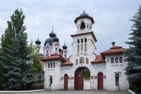 Entrance gates to the Curchi Monastery, Republic of Moldova