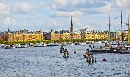 vue ville: Vue sur la ville de Stockholm en Su�de