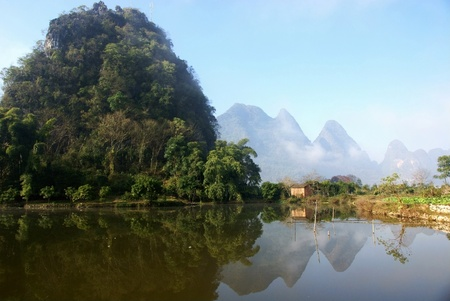 countryside landscape in guilin of china photo