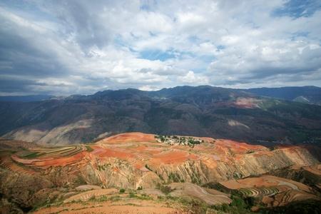 Red farmland,dongchuan,yunnan province, china photo
