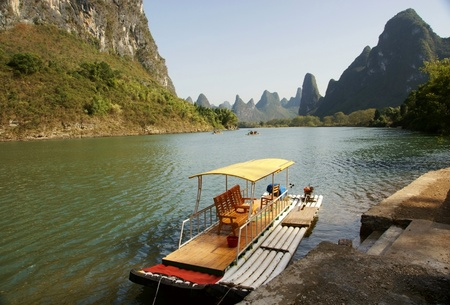 Lijiang river landscape Stock Photo