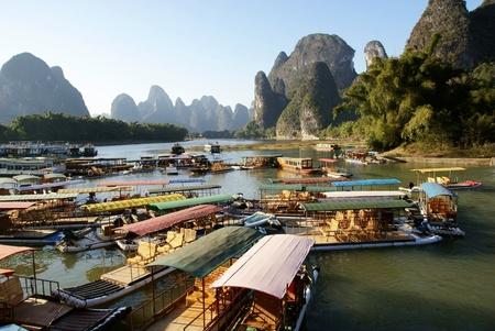 wharf landscape,yangshuo,china photo
