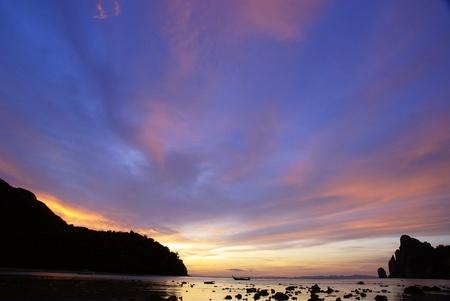 tropical island sunset scenery,thailand       photo