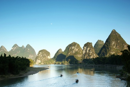 li river landscape  photo