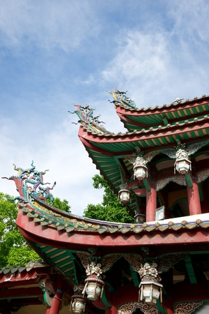 Eave close up of chinese temple Stock Photo